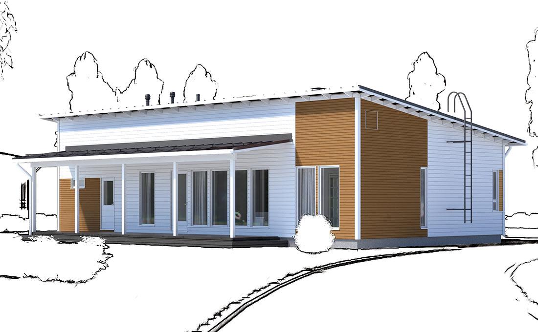 Talonäyttely:Ainoakoti, Yksilöllinen koti 123 m2