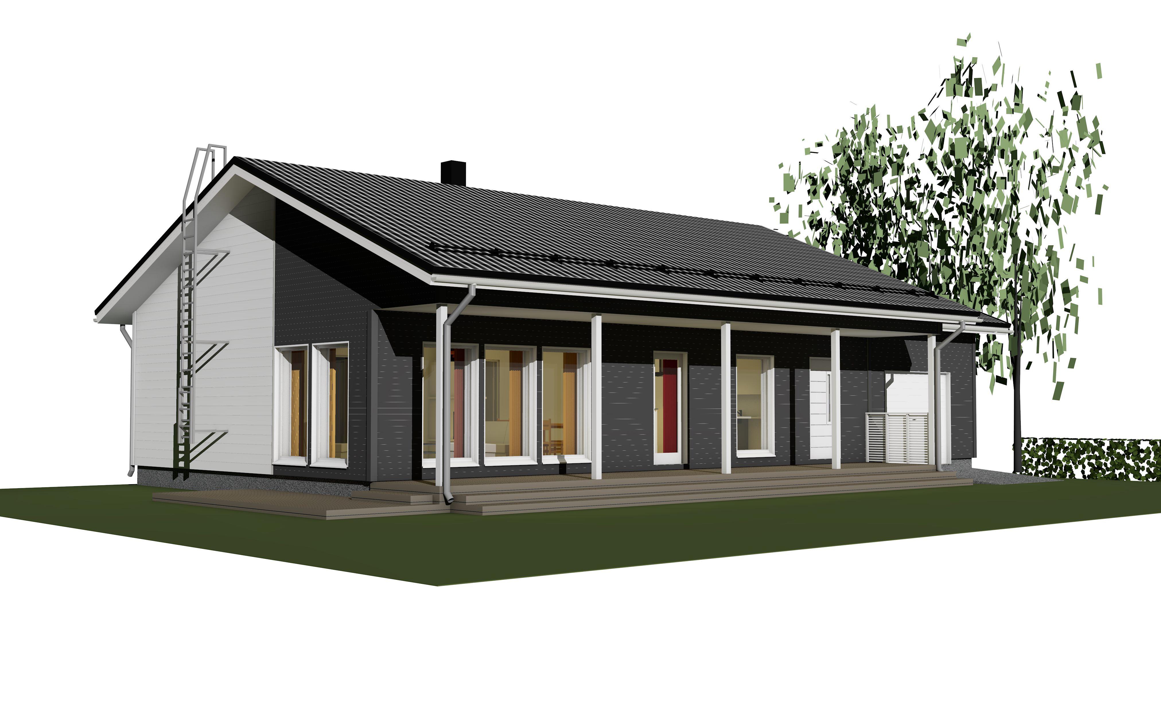 Julkisivukuva - Ainoakoti, Yksilöllinen koti 84 m2
