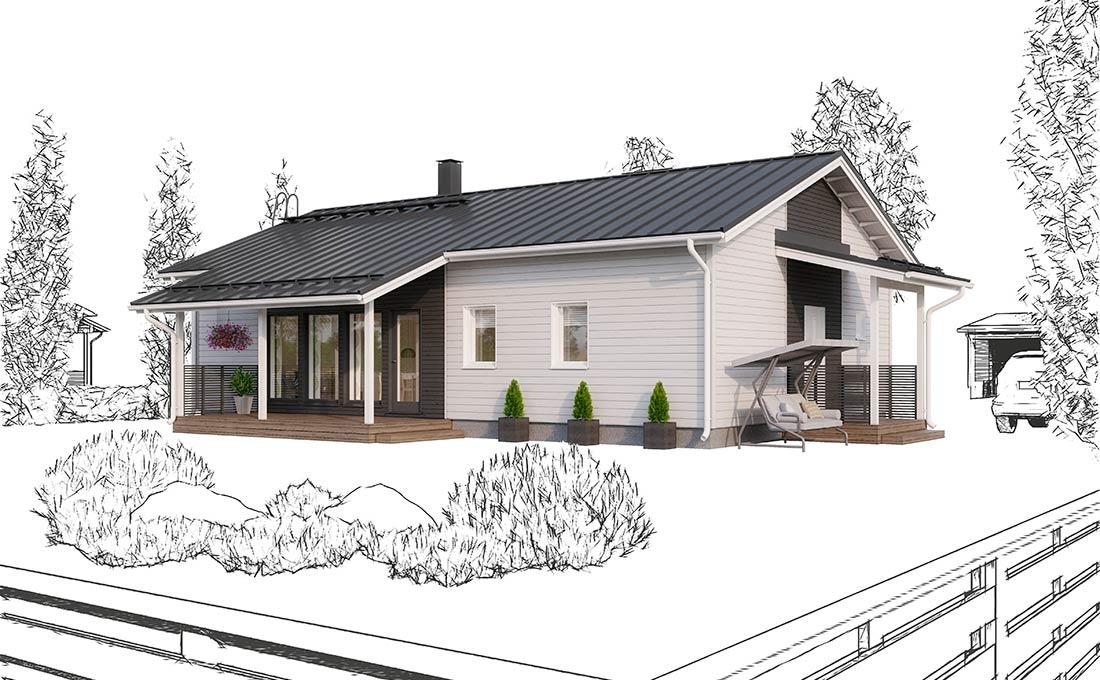 Talonäyttely:Ainoakoti, Yksilöllinen koti 100 m2