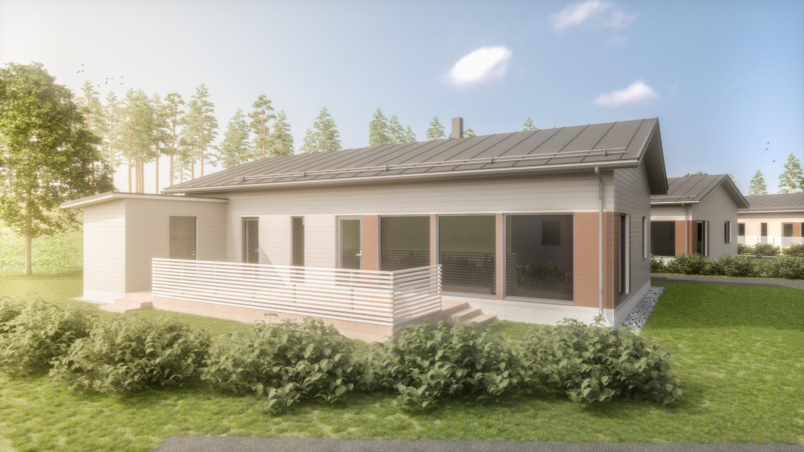 Julkisivukuva - Ainoakoti, Yksilöllinen koti 114 m2